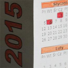 skladany kalendarz dla dzieci do kolorowania