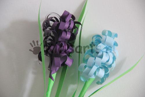 hiacynt z papieru wiosenne prace plastyczne dla dzieci