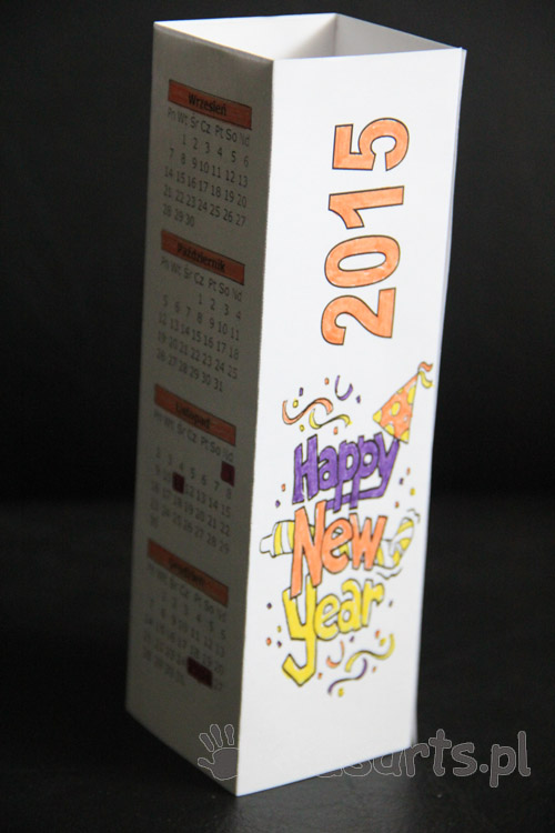 kalendarz 2015 do druku kolorowanka
