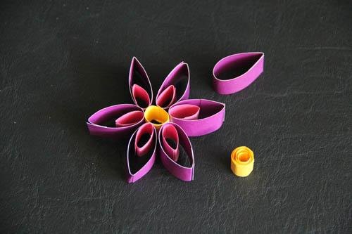 kwiat z papieru prace plastyczne dla dzieci