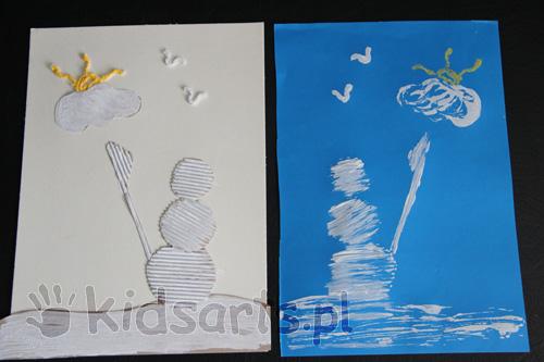 zima prace plastyczne dla dzieci